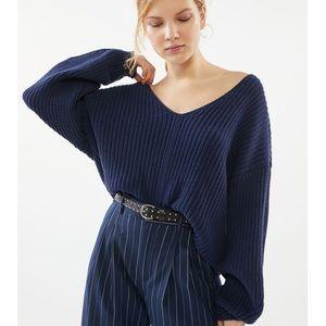 UO Avery Double V-Neck Sweater